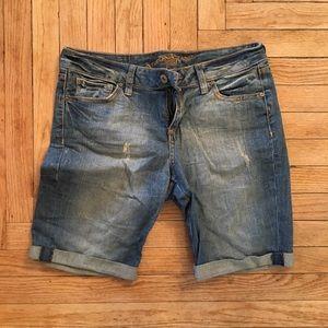 Mid-Length Jean Shorts